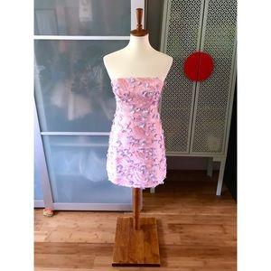 ASOS DESIGN Premium 3D Floral A-line Mini Dress